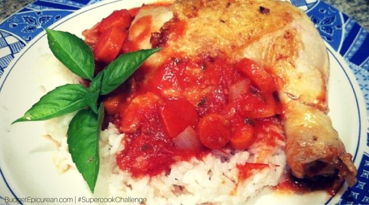 tomato basil chicken cacciatore recipe supercook.com